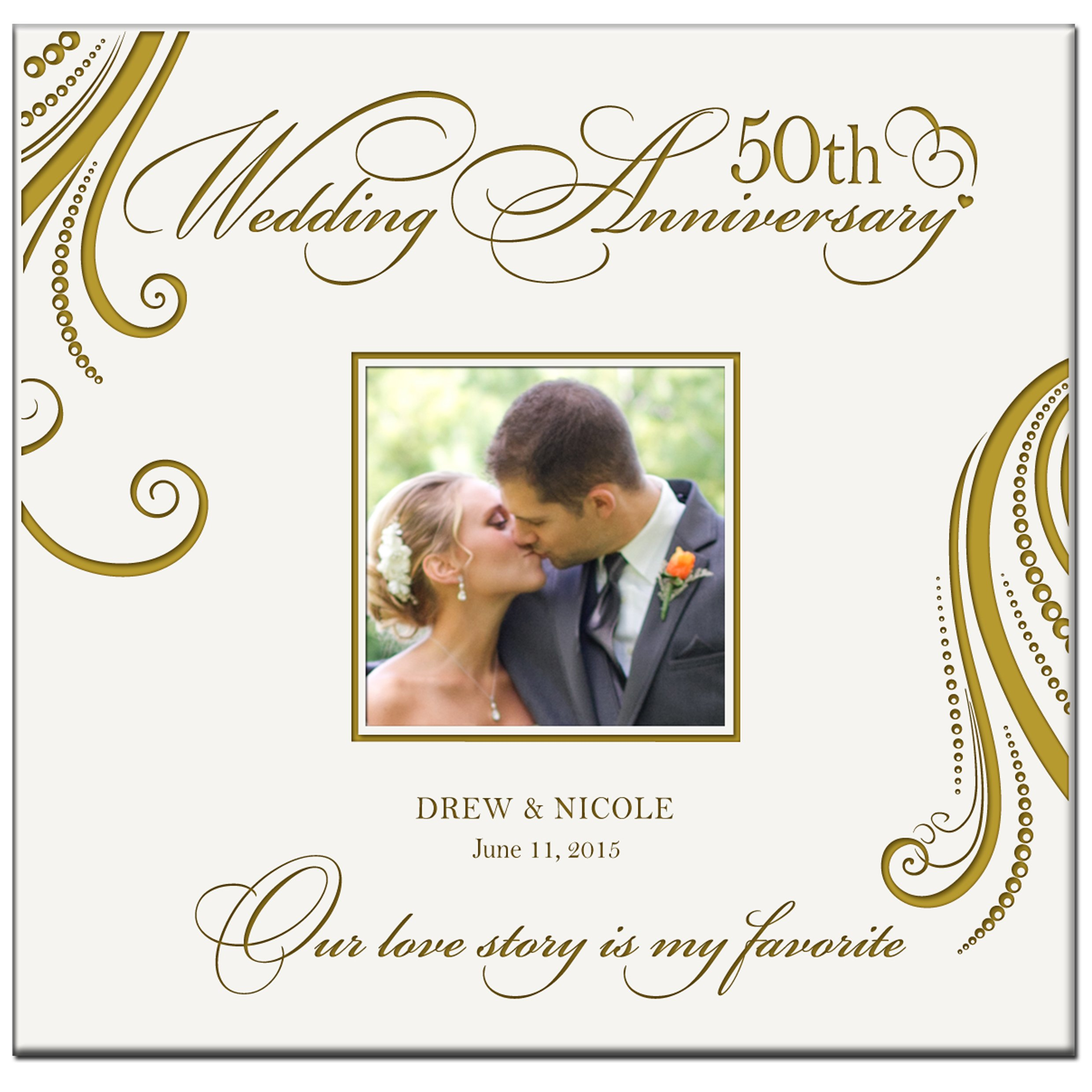 Personalized 50th Wedding Anniversary Our Love Story Is My Favorite Photo Album Gifts Holds 200 4x6 Photos By LifeSong Milestones