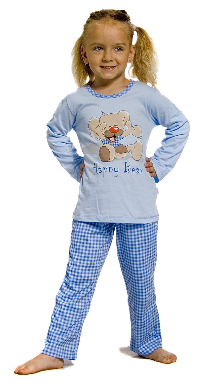 Cornette Niña Pijamas Conjunto Pijamas Niña Invierno Verano CR-811-Happy-Bear2: Amazon.es: Ropa y accesorios
