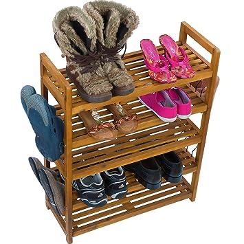 Schuhregal Schuhschrank Regal Schuhstander Schuhablage Schuhe Aufbewahrung Schuhregal Auch Fur Draussen Akazie Holz Braun