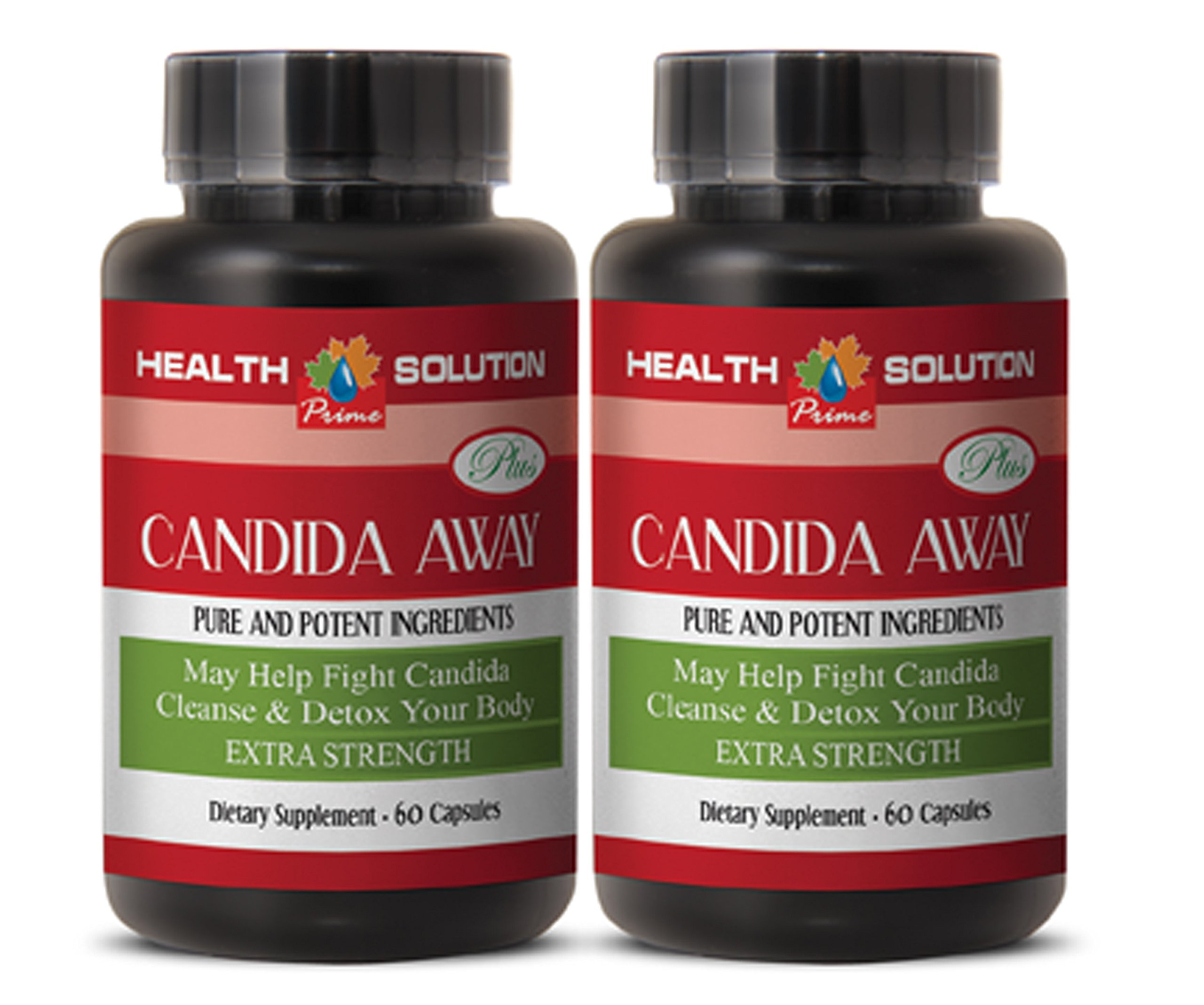 Yeast killing supplement - CANDIDA AWAY PLUS - Candida support - 2 Bottles 120 Capsules
