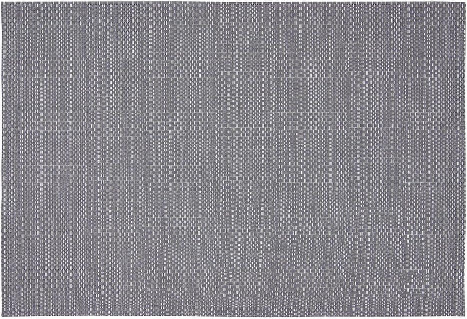 75/% PVC 25/% Polyester Tapis de table Winkler R/ésistant chaleur Set de table Entretien facile Antid/érapant D/écoration table Canna Acier Gris