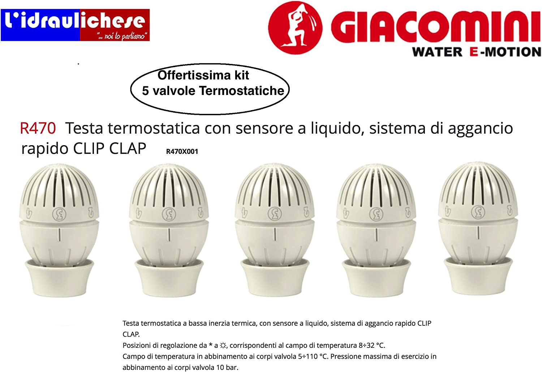 Giacomini R470 Lot De 5 Tetes Thermostatiques Amazon Fr Bricolage