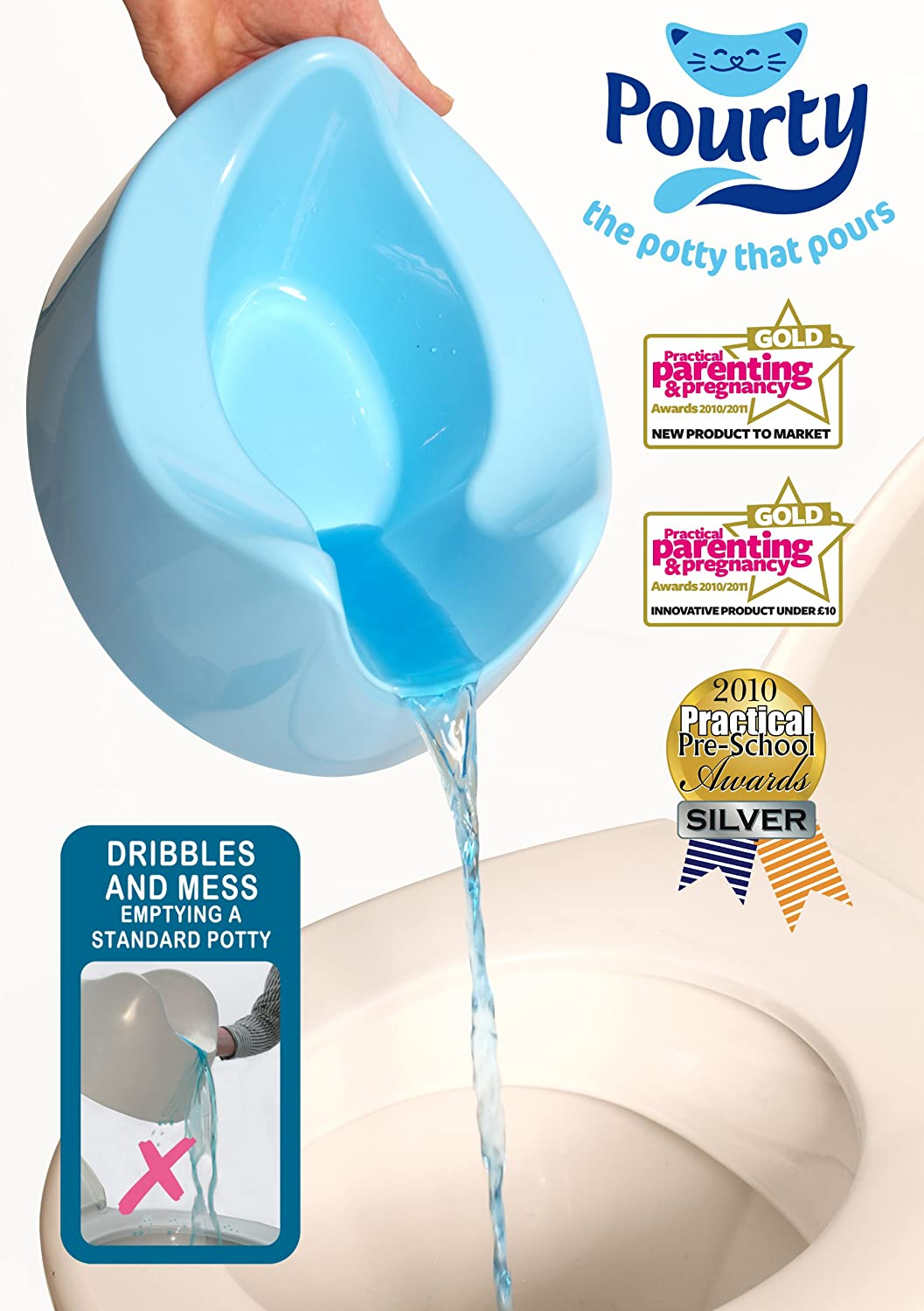 Blue Pourty Easy-to-Pour Potty