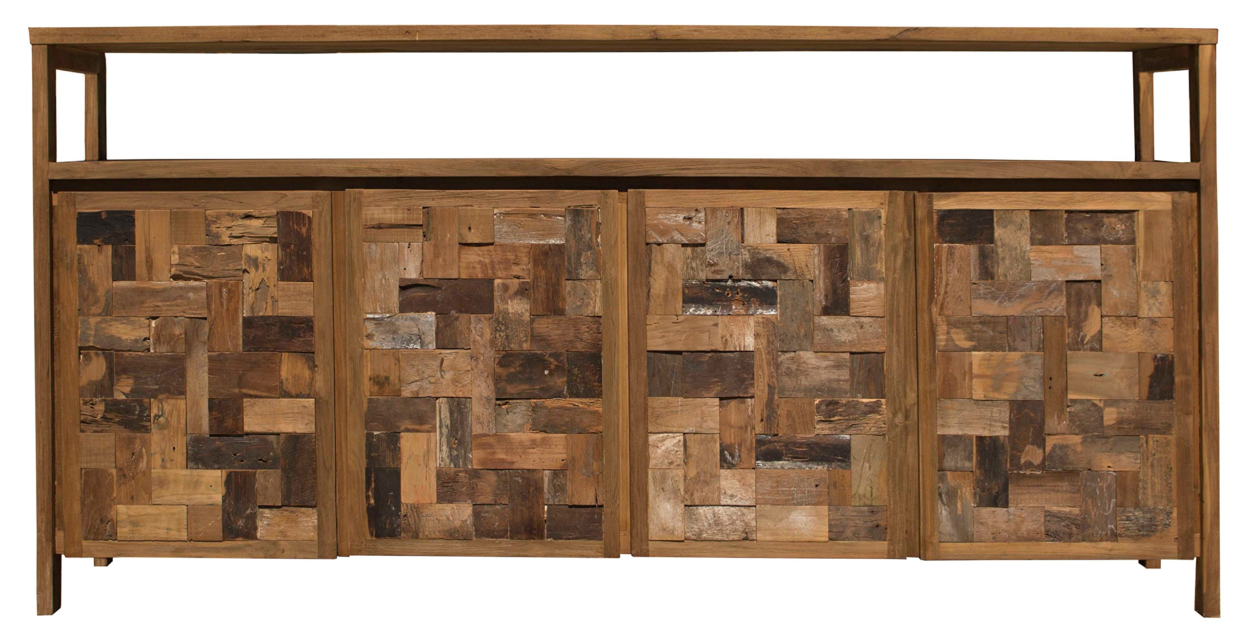 Recycled Teak Mozaik Buffet With 4 Doors Made By Chic Teak