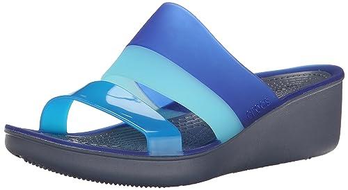 a46705a821f crocs Women s Storm Cerulean Blue Fashion Sandals -W6 (200031-4GB ...