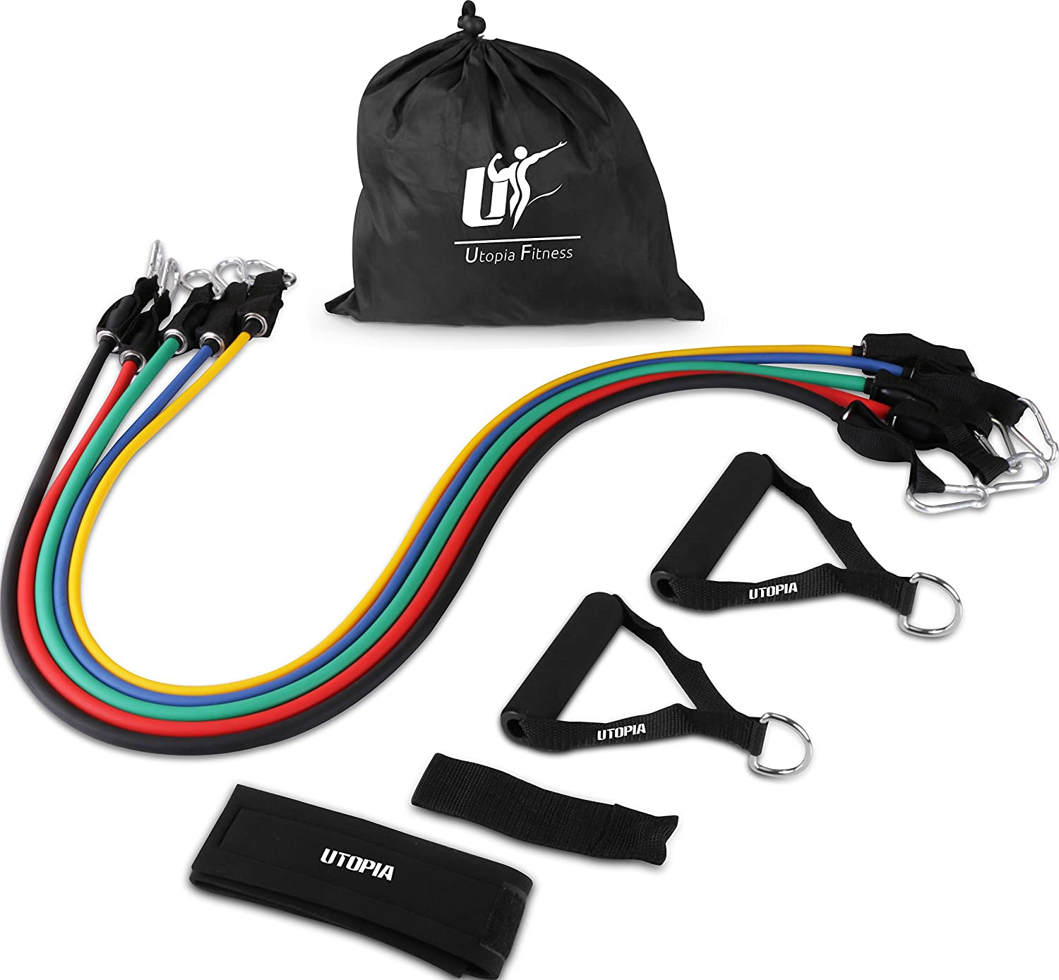 USA 5 Set Black Resistance Band Mountain Products Door