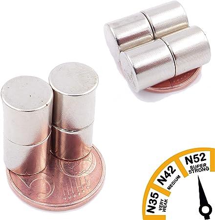 N52 Niveau Le Plus Forte Aimant de Puissance pour mod/élisme Disque Extra Forte Artisanat Photo Brudazon Tableau Blanc 100 Mini Aimants Disques 9x1mm Aimants en n/éodyme Ultra Fortes