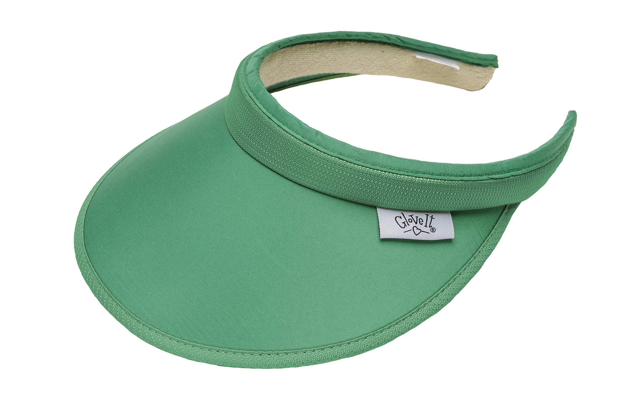 Glove It Women's Solid Visor, Green, Standard
