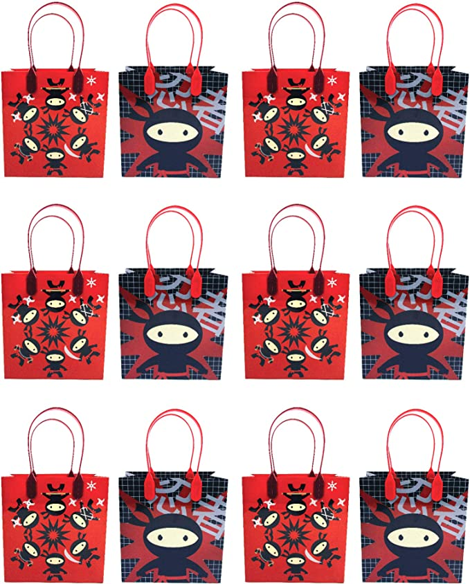 Amazon.com: Ninja - Bolsas de regalo para fiesta, 12 ...