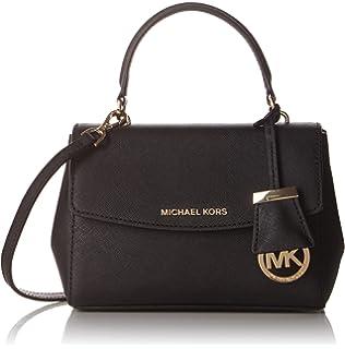 Michael Kors Shoulder Bag for Women, Black, Leather, 2017, one size