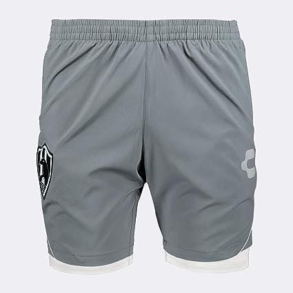 Charly 5027721 Short con Licra para Hombre, Color Gris