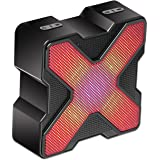 KMASHI LED Bluetooth Speaker Built-in RGB LED lights 4 Music Display Mode with Bass Powerful Sound Support TF Card
