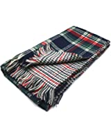 Tapp Collections™ Retro Voile Bohemian Women Voile Soft Plaid Scarf Large Beach Wraps Shawl
