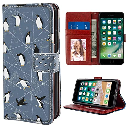 Amazon.com: YaoLang iPhone 6/6S - Funda tipo cartera para ...