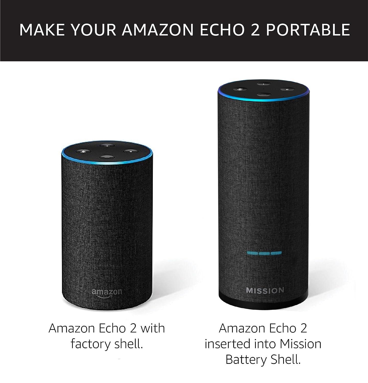 Amazon.com: Base de batería Mission Shell Amazon Echo de 2ª ...