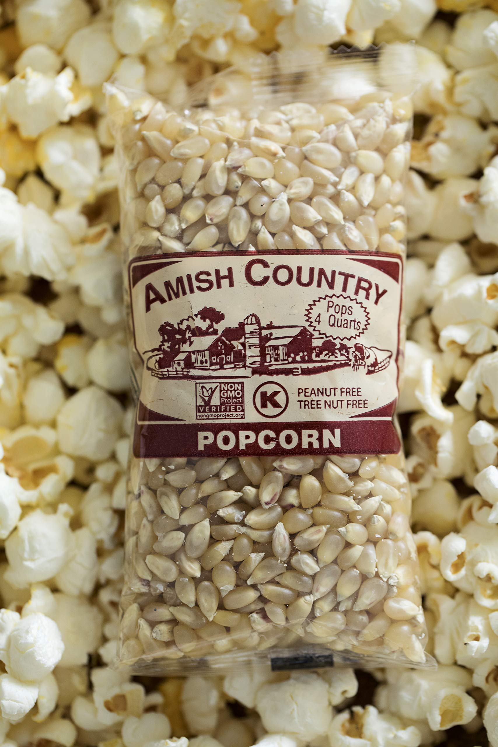 Amish Country Popcorn - Old Fashioned Baby White - (4 Ounce - 24 Bags) - Small & Tender Popcorn - With Recipe Guide by Amish Country Popcorn (Image #5)