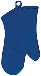 KAF Home Chefs Solid Oven Mitt, Blue, 100% Cotton, Machine Washable, Made in USA