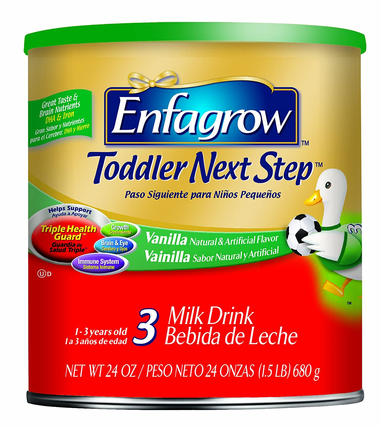 Amazon.com: Enfagrow Toddler Next Step Vanilla, for Toddlers 1 Year and Up 72 Ounce: Health & Personal Care