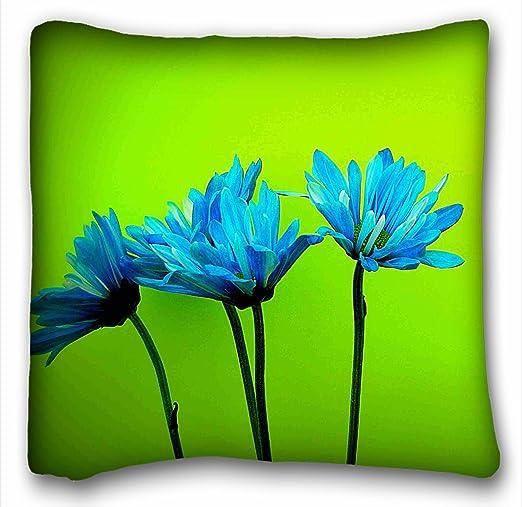 TAROLO decorativo azul turquesa margaritas flores verde ...