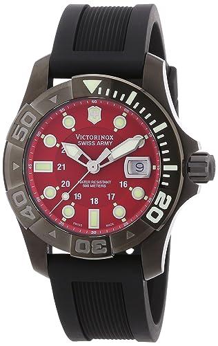 Victorinox Swiss Army - Reloj analógico de cuarzo para hombre con correa de caucho, color negro: Amazon.es: Relojes