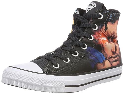 Converse Ctas Hi, Sneaker a Collo Alto Unisex-Adulto, Multicolore (Black/White/Black 001), 45 EU