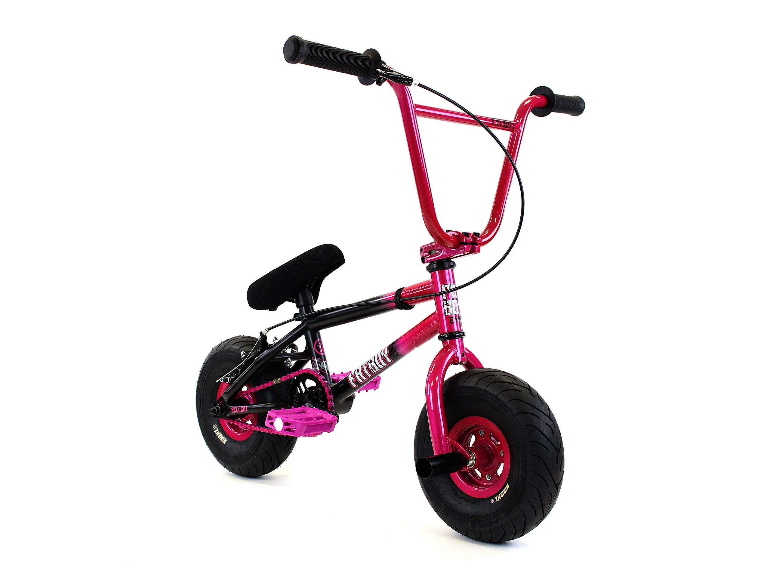 FatBoy Mini BMX Bicycle Freestyle Bike Fat Tires, 2 Tone, Pink Black Assault