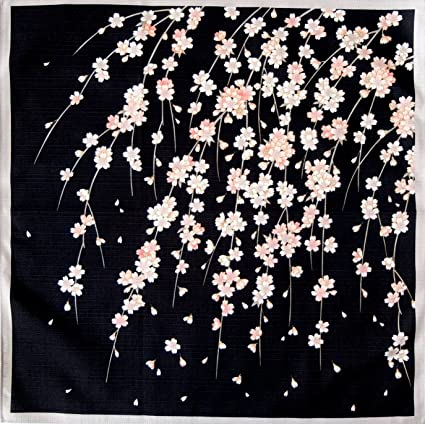 HAMAMONYO FUROSHIKI JAPANESE Traditional Wrapping Cloth 50cm Crane Madder Fuji