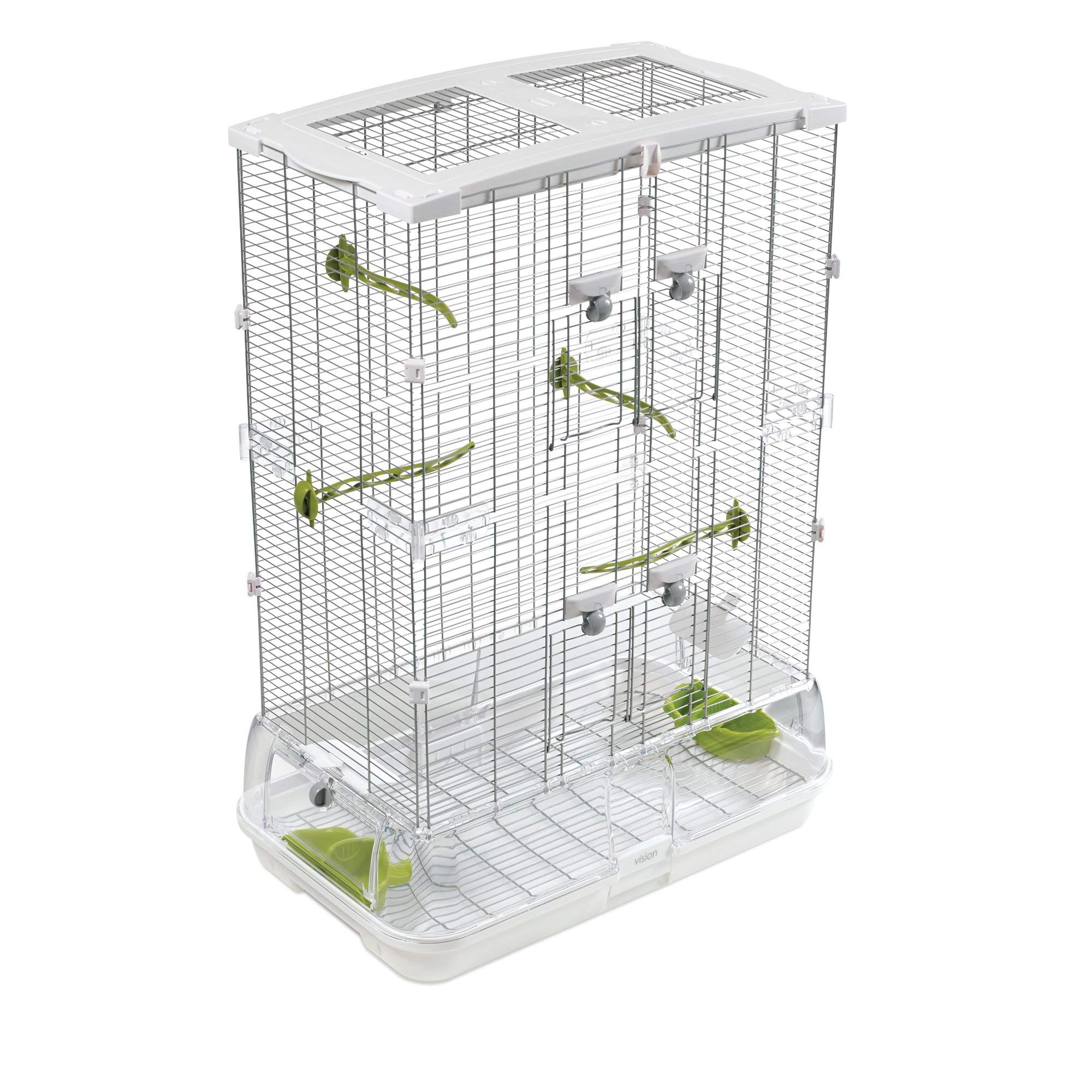 Hagen Vision Bird Cage Model M02, 24.6'' L X 15.6'' W X 34.3'' H, 16.6 LBS, White by Hagen