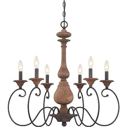 Amazon.com: Quoizel abn5006 Auburn 6 luz Single Tier ...