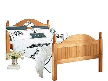 MIGUEL Landhaus Bett Bettgestell Doppelbett 160x200 Kiefer Schlafzimmer  Massivholz Naturmöbel Echtholzmöbel Günstig Gebeizt Geölt