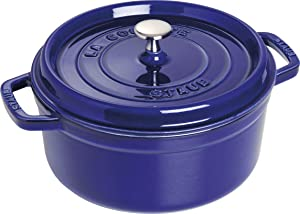 Staub Round Dutch Oven 9-quart Sapphire Blue