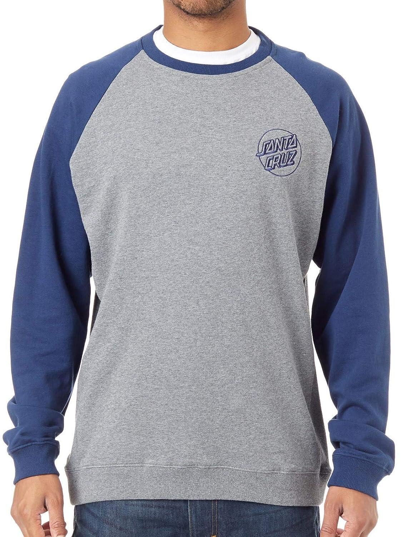 Santa Cruz Raglan Sweatshirt Outline Crew Indigo-Dark Heather (Large, Blau)