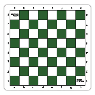 Bobby Fischer Tournament Roll Up Travel Chess Board - 20 inches - Mousepad Style with Green Squares by WE Games: Toys & Games