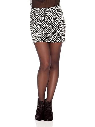 Springfield Falda Tethnic Skirt Blanco/Negro ES 36: Amazon.es ...