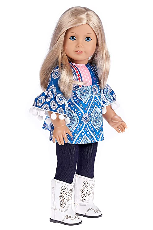 2ccd52f7b6b DreamWorld Collections - Stylish - 3 Piece Outfit - Clothes Fits 18 Inch  American Girl Doll
