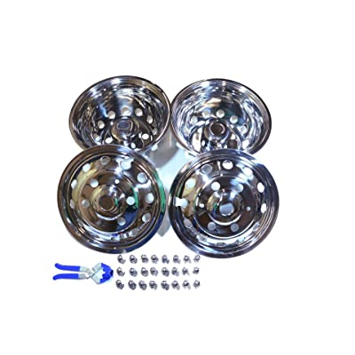 A+ 51016 2014-2016 Ford Transit Dually 6 Lugs Stainless Wheel Simulator, Pack of 4: Automotive