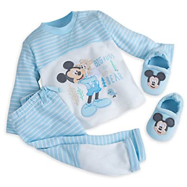 7a83a22d1aed Amazon.com  Disney Store Mickey Mouse Layette Knit Set (12-18 M ...