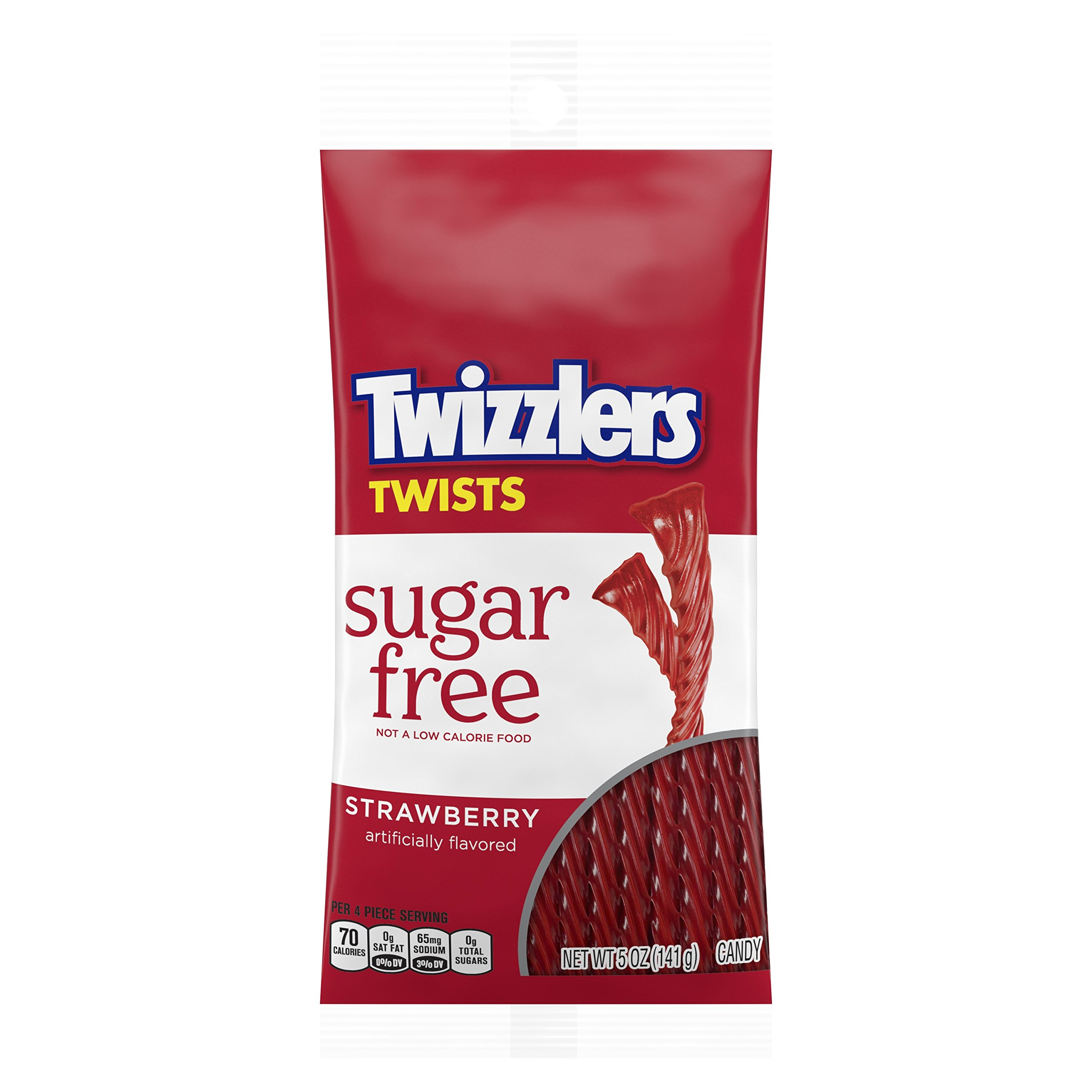 TWIZZLERS Sugar Free Strawberry Licorice Candy, 5 Ounce (Pack of 12)
