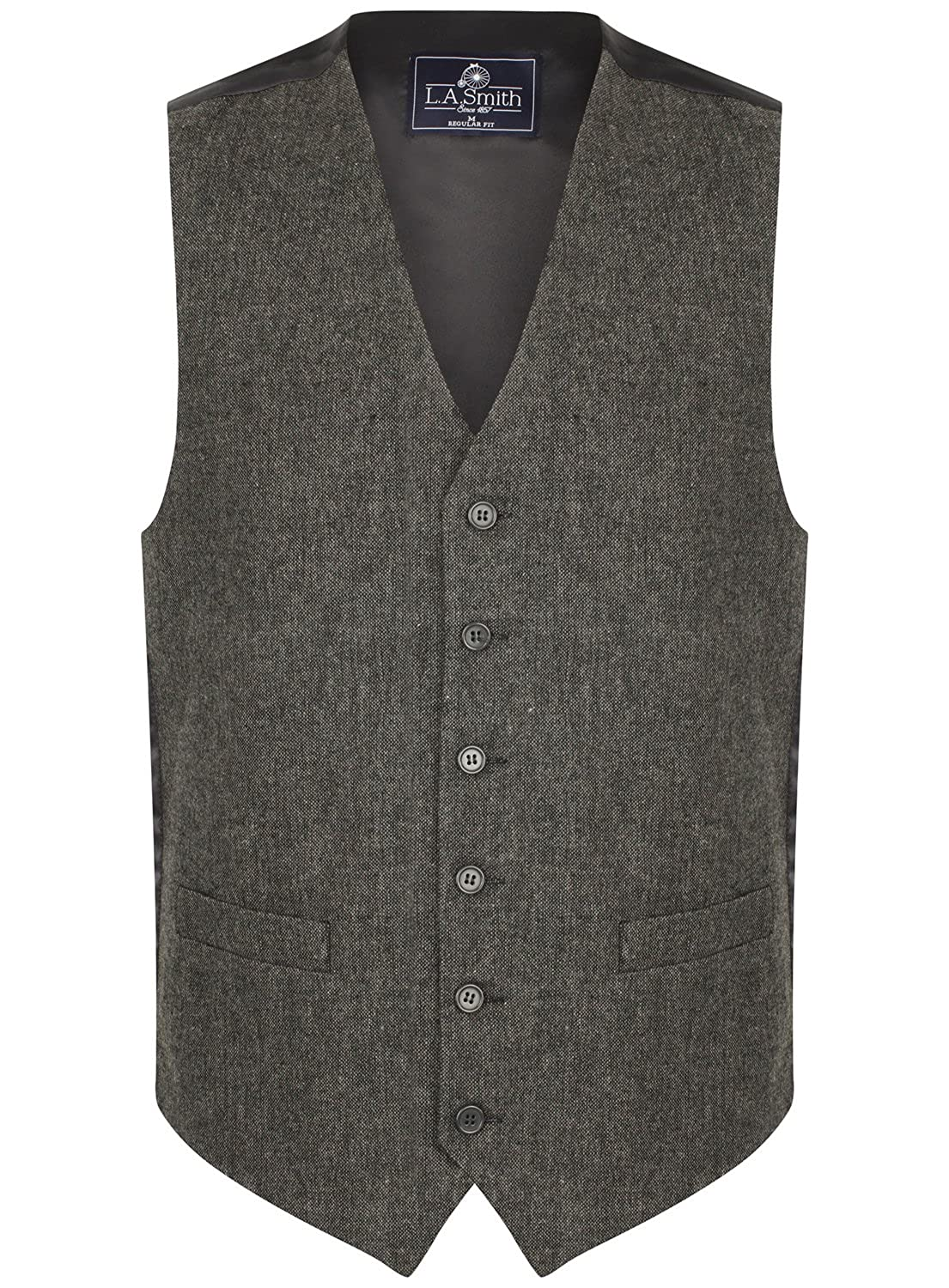 Tweed Donegal Grigio Uomo Lloyd Attree /& Smith Gilet in Misto Lana
