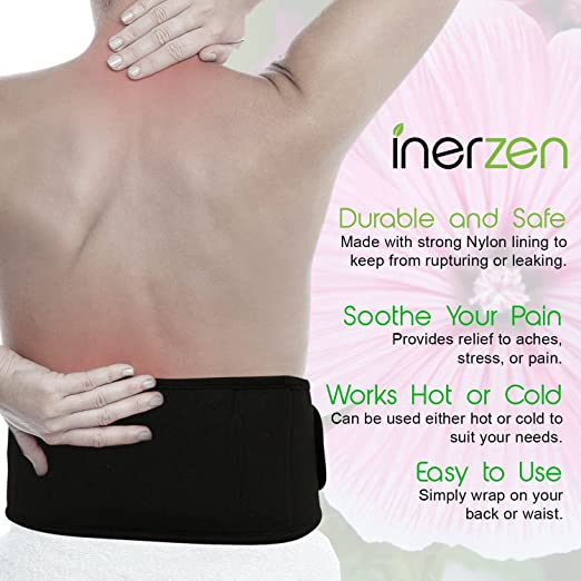 Inerzen Back and Waist Hot and Cold Gel Pad Therapy Wrap for Pain