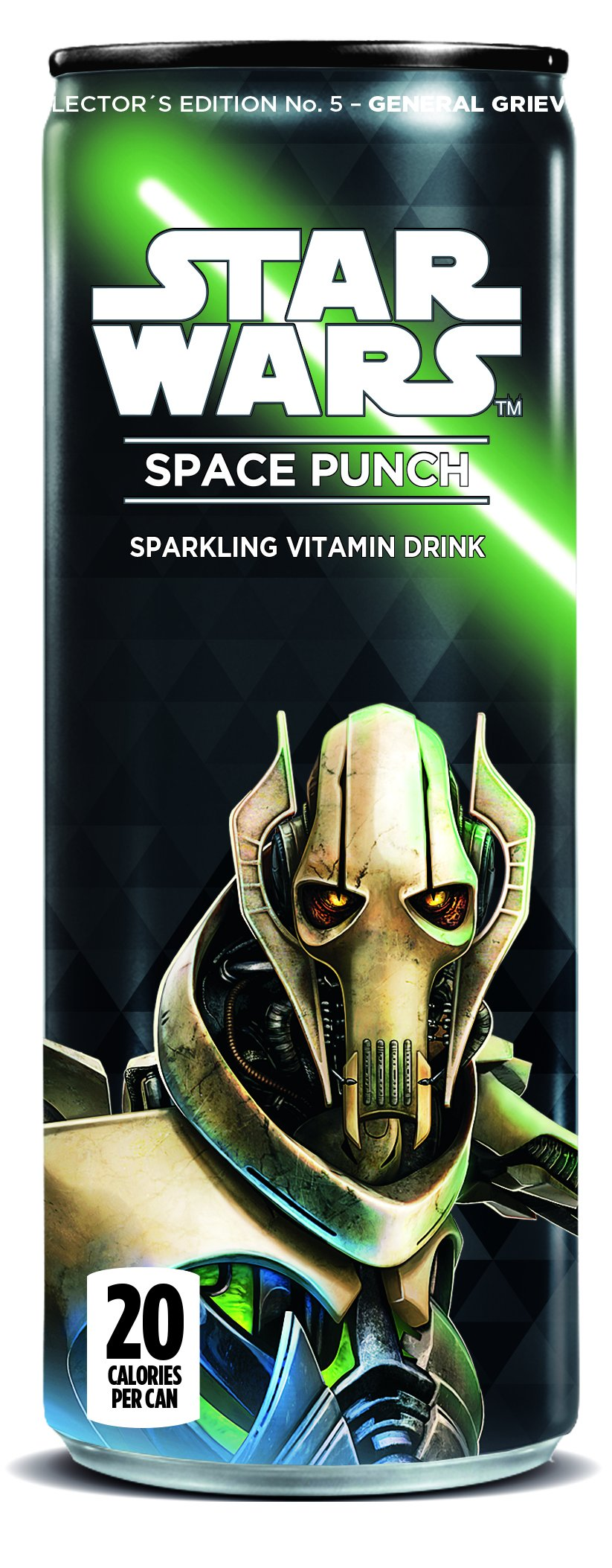Star Wars Space Punch Sparkling Vitamin Drink, Collectors Edition No.5- General Grievous, 12 Oz. Cans (Pack of 12)