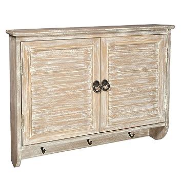 Landhaus Wandregal Mit 2 Türen Fächer Schrank Holz