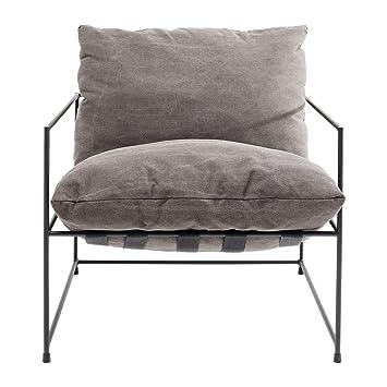 Kare Design U2013 Sessel Stoff Grau Und Metall Schwarz Cornwall