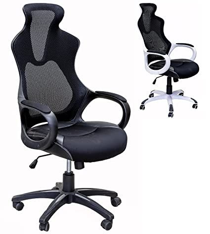 ViscoLogic® Series YF 912 1B High Back Super Mesh Office Chair Black With