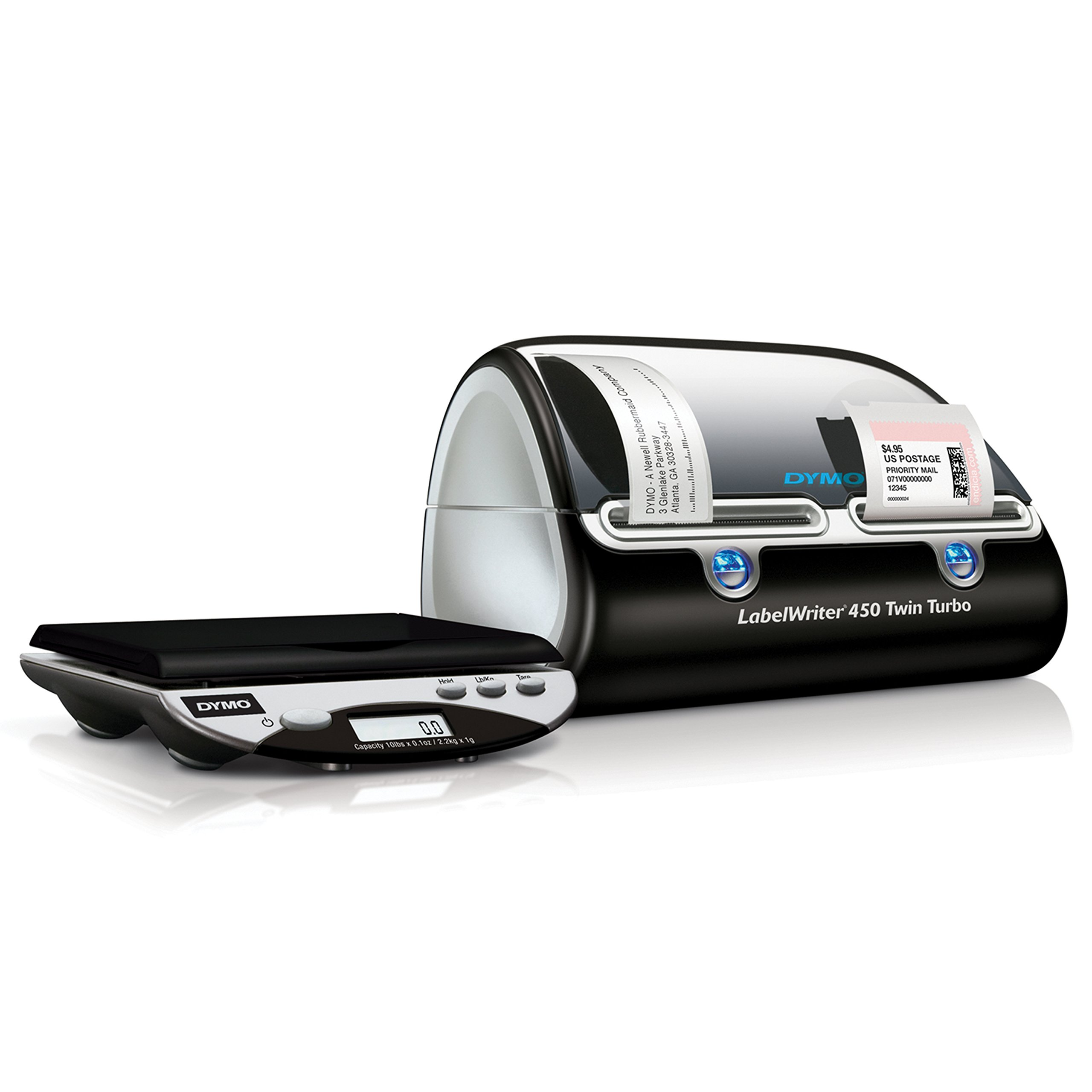 DYMO Desktop Mailing Solution: LabelWriter Twin Turbo Label Printer and Scale (1757660)