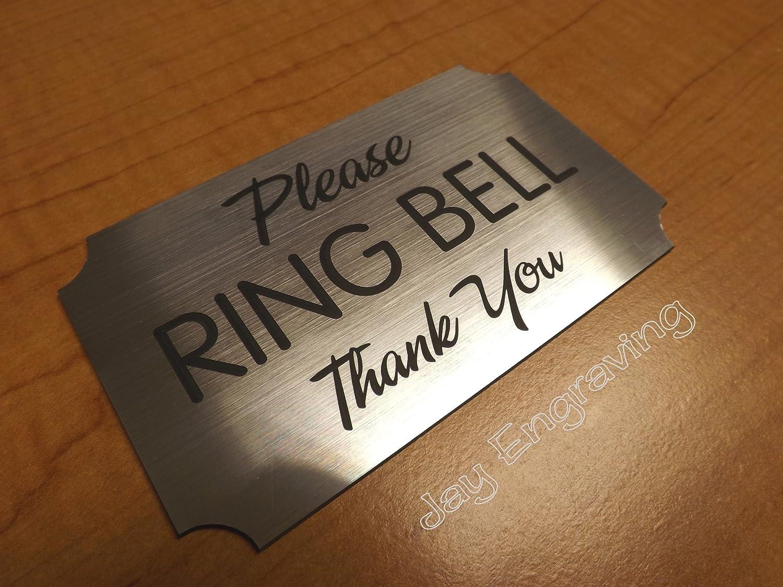 Amazon.com: Cartel para puerta de ~ por favor Ring Bell ~ 3 ...