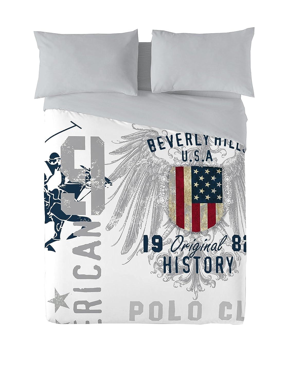 Beverly Hills Polo Club Juego De Funda Nórdica Trinity Blanco/Gris ...