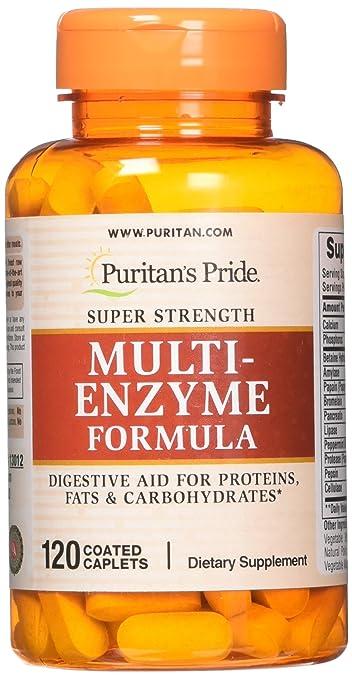Puritans Pride Super Strength Multi Enzyme-120 Caplets