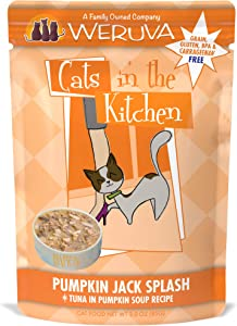 Weruva Cats in the Kitchen Grain-Free Natural Wet Cat Food Pouches, Pumpkin Jack Splash, 3-Ounce Pouch (Pack of 12)