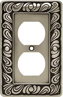 franklin brass paisley single duplex outlet wall plate switch plate cover brushed